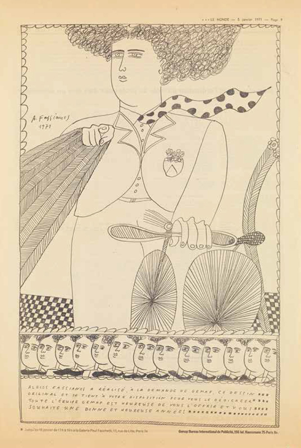Fasianos Alekos-Εξώφυλλο για την εφημερίδα της Le Monde