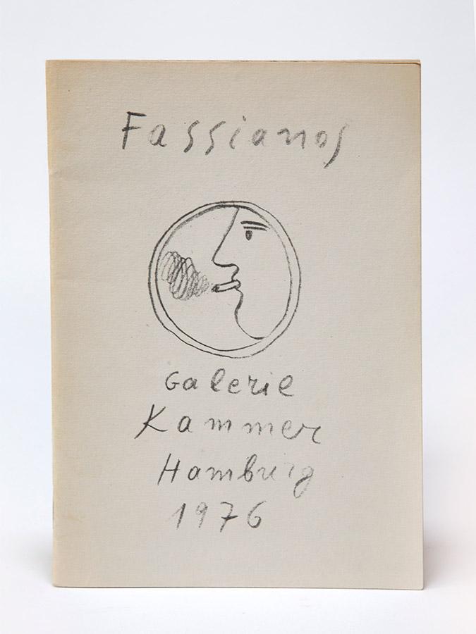 Fasianos Alekos-Έντυπος καταλογος ατομικης εκθεσης στο Αμβουργο στην γκαλερι Galerie Kammer